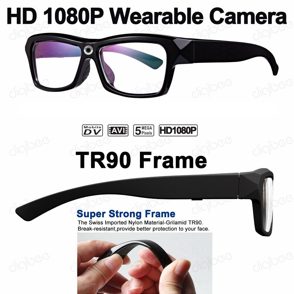 Outdoor TR90 Frame Eyewear Smart Glasses HD 1080P Mini Camera Glasses Car DV Video Recorder UVC USB Camera OTG for Android 4.0+